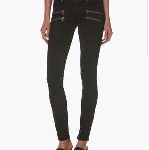 PAIGE double zipper black jeans sz 29